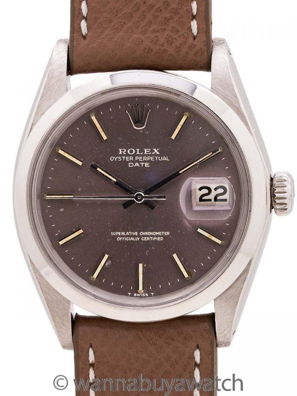 Rolex Oyster Perpetual Date ref 1500 Grey Dial circa 1969