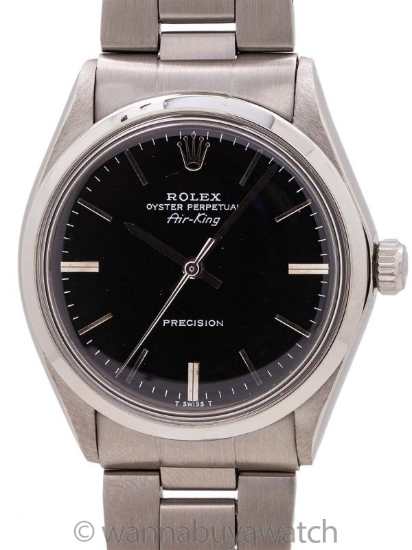 Rolex SS Oyster Perpetual Airking ref 5500 circa 1972