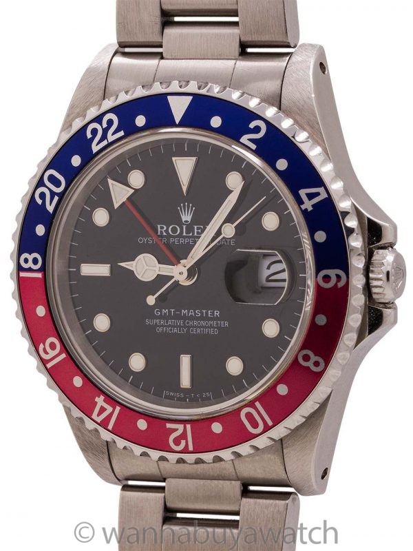 Minty Rolex GMT ref 16700 circa 1996 B & P