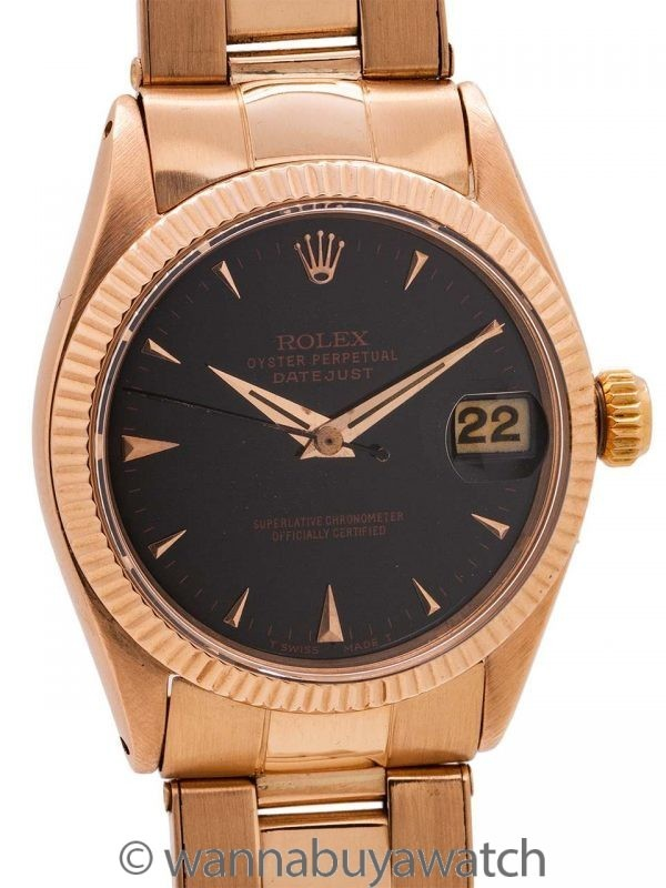 Rolex Midsize Datejust ref 6627 18K Rose Gold circa 1968