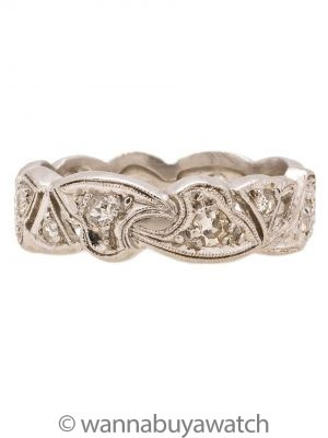 Vintage Art Deco Platinum Diamond Eternity Band 0.25ct circa 1930s