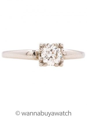 Vintage Platinum Diamond Engagement Ring 0.50ct circa 1930s