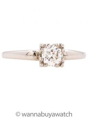Vintage Platinum Diamond Engagement Ring 0.50ct circa 1930s