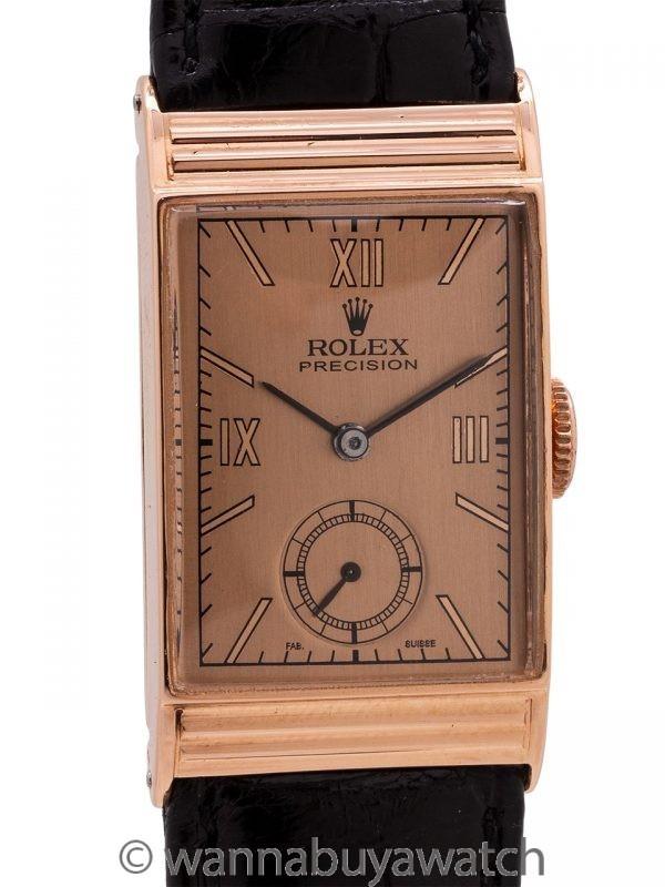 Rolex Precision 14K PG ref 4010 circa 1940's