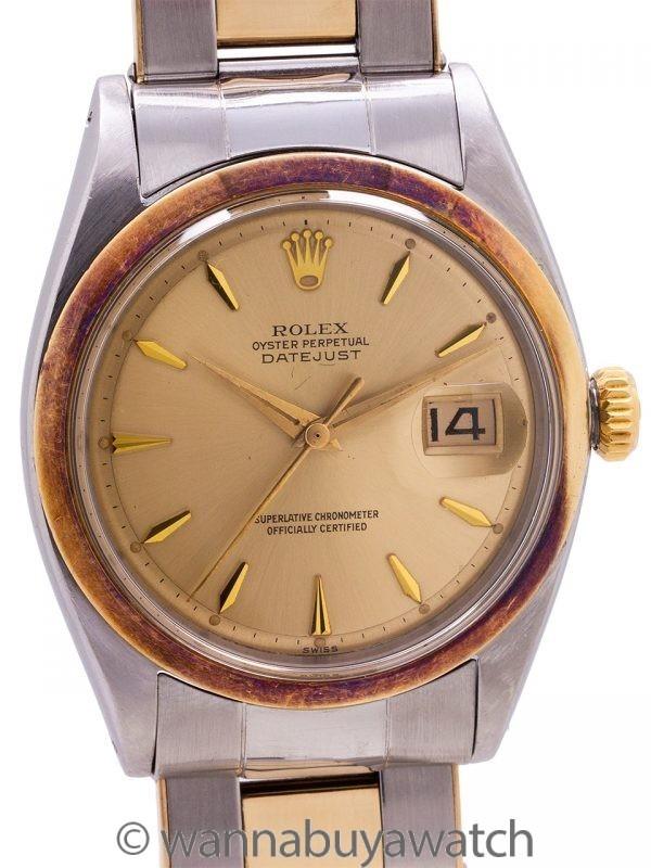 Rolex Oyster Datejust ref 1600 SS/14K YG circa 1963 Unpolished