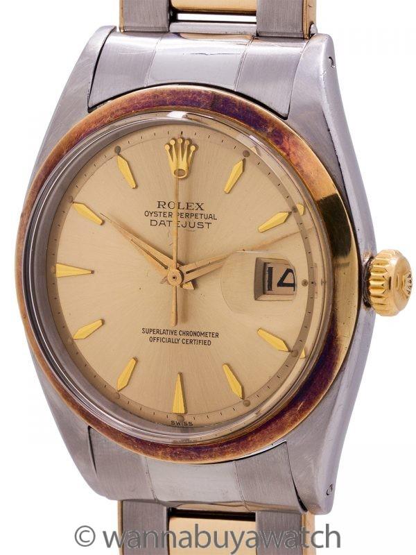 Rolex Oyster Datejust ref 1600 SS/14K YG circa 1963