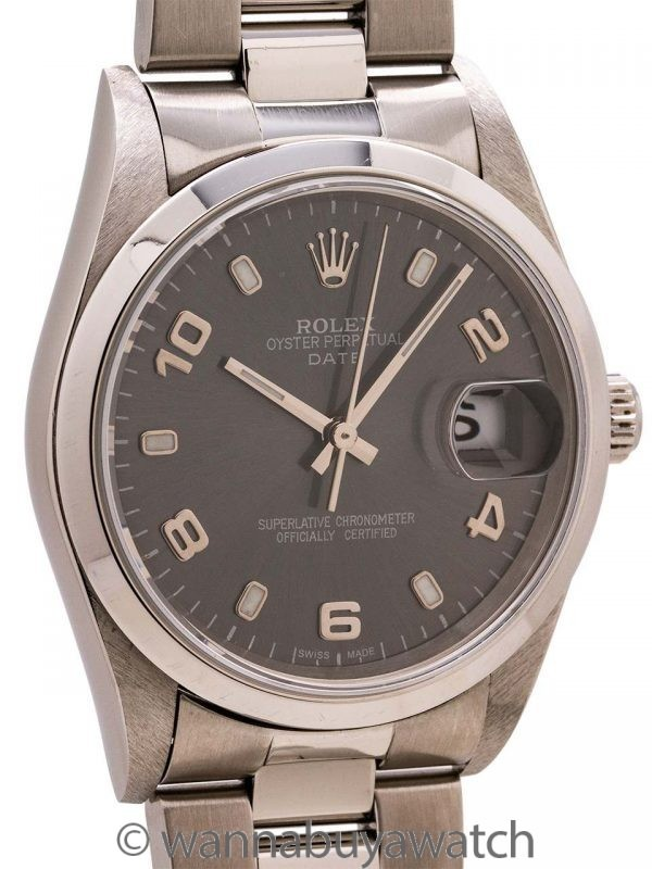 Rolex Oyster Perpetual Date ref 15200 circa 2002 Anthracite Gray