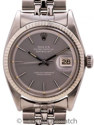 Rolex Datejust ref 1601 Stainless Steel Gray Pie Pan Dial circa 1967
