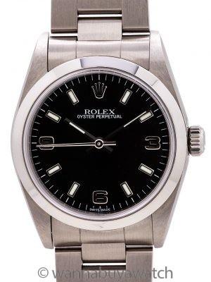 Rolex Oyster Perpetual Midsize Black ref 77080 circa 2000