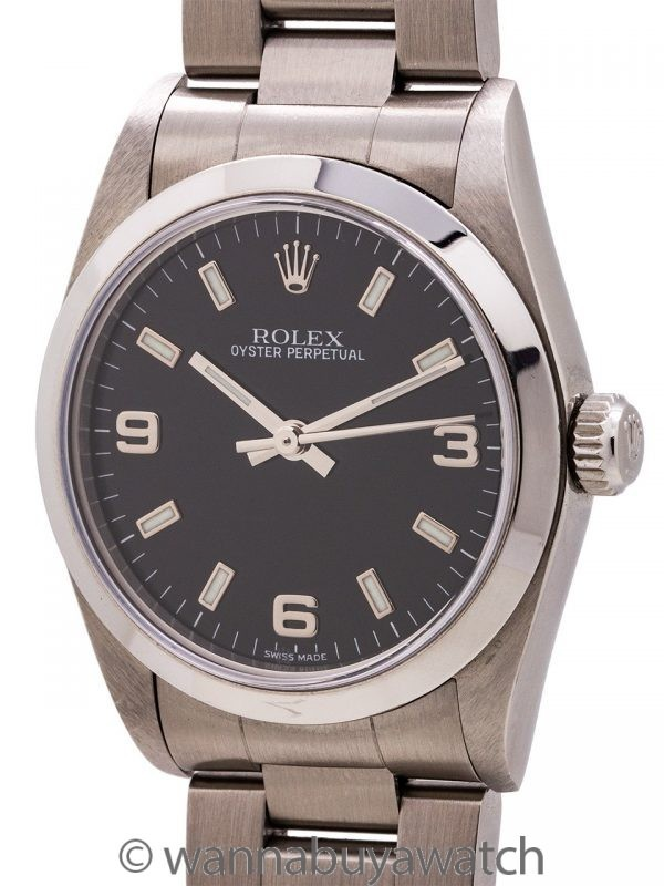 Rolex Oyster Perpetual Midsize ref 77080 circa 2001 w/ Card