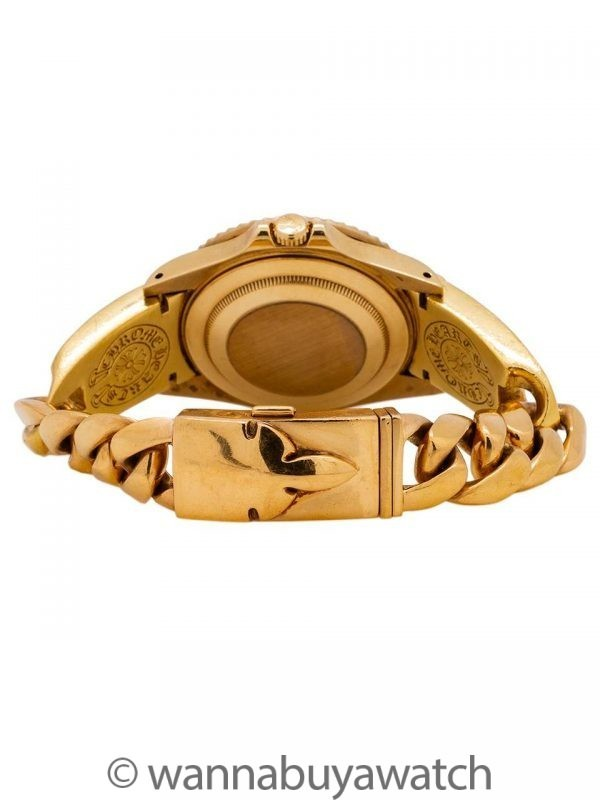 Rolex GMT II ref 16718 18K YG circa 1991 w/ 22K Chrome Hearts Bracelet