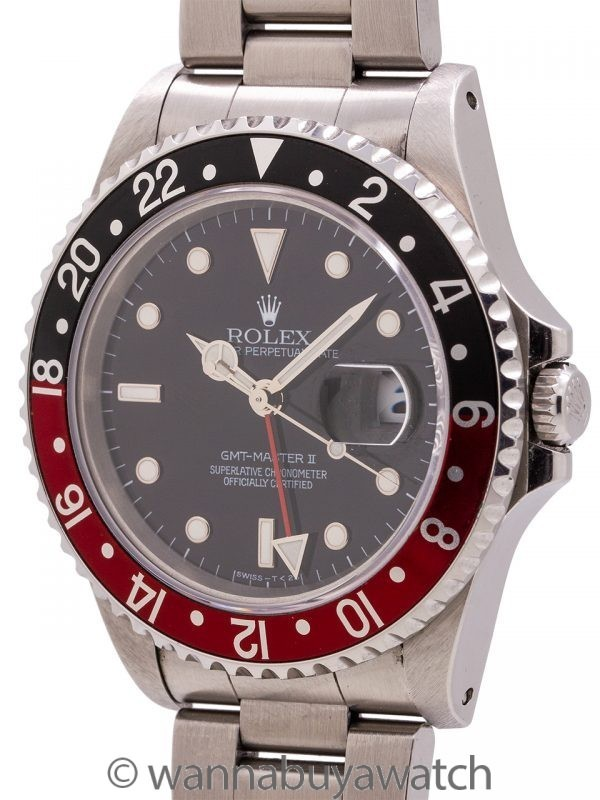 "Rolex GMT II ref 16710 ""Coke"" Tritium circa 1996 Box & Papers"