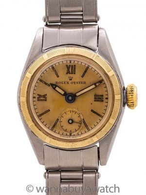 Lady Rolex Oyster SS/YG Manual Wind circa 1958