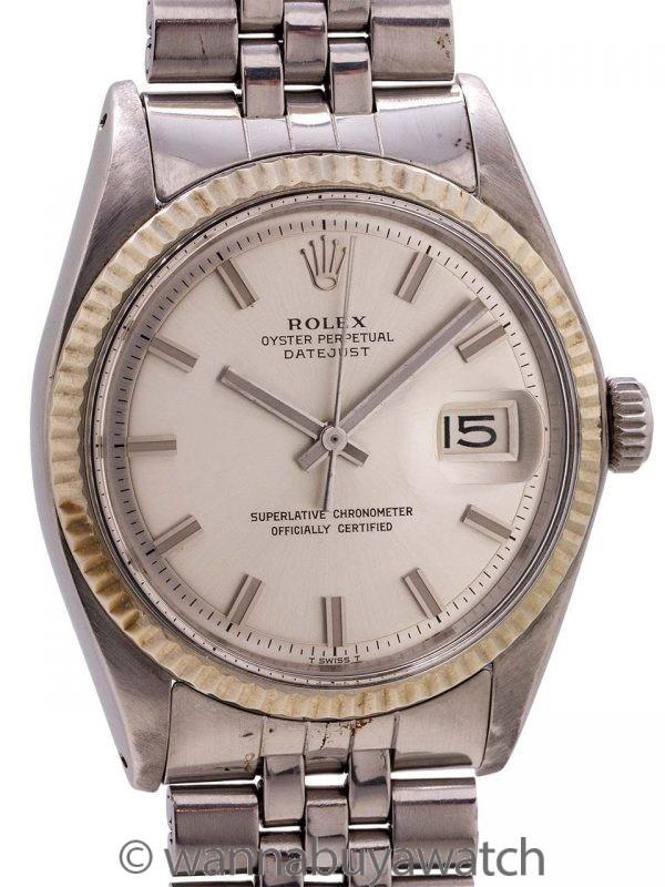 """Rolex Datejust ref 1601 Stainless Steel """"Fat Boy"""" circa 1970"""