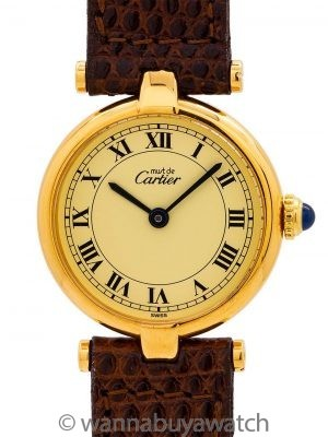 Cartier Man' Vendome Tank Vermeil circa 1990's