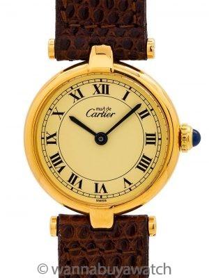 Cartier Lady's Vendome Tank Vermeil circa 1990's