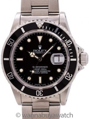 Rolex Submariner ref 16800 Transitional Model circa 1982
