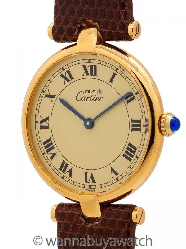 Cartier Man's Vendome Tank Vermeil circa 1990's