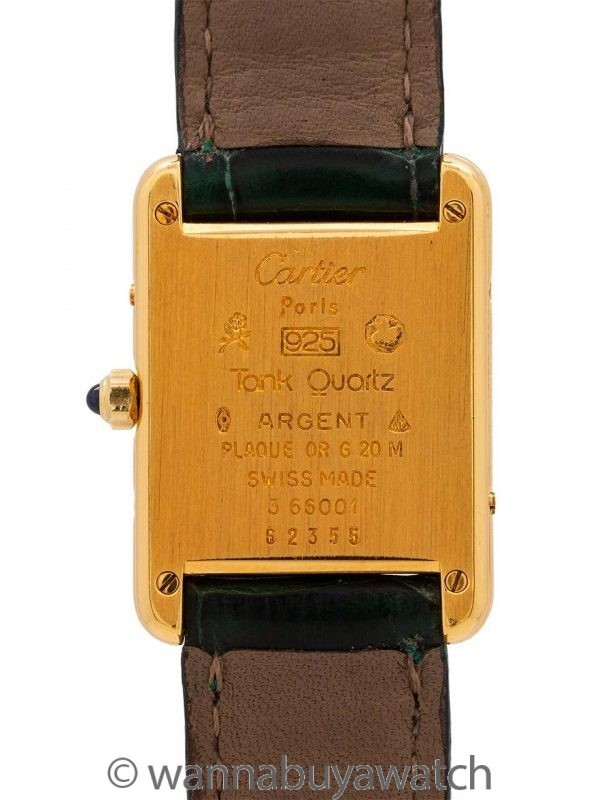 Cartier Tank Louis Lady's Vermeil Quartz circa 2000's