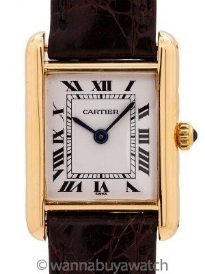 Cartier Lady's 18K Gold Tank Louis circa 1990's