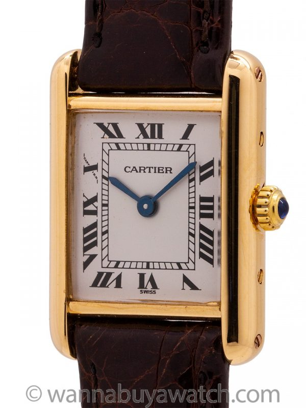 Cartier Lady's 18K Gold Tank Louis circa 1990's