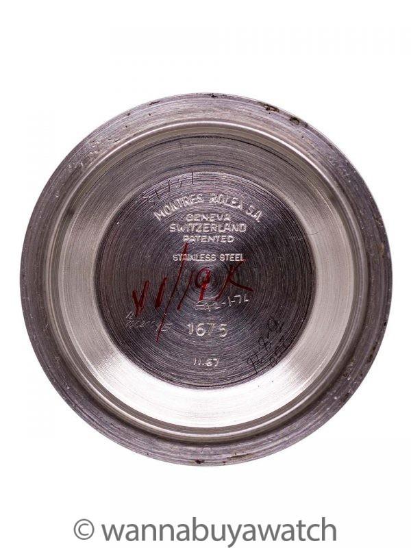 "Rolex SS GMT-Master ref 1675 Fuchsia ""Long E"" circa 1968"