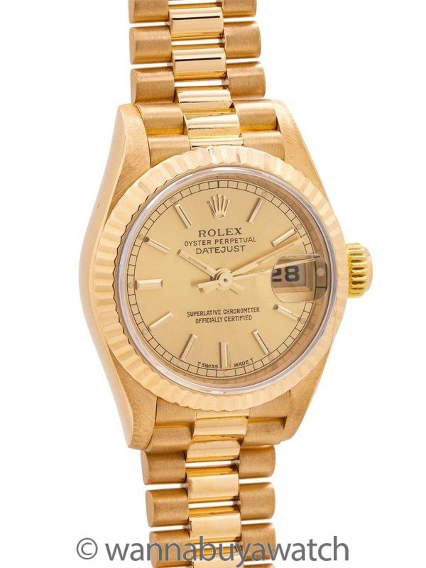 Rolex Lady President ref 69178 1993 MINT!