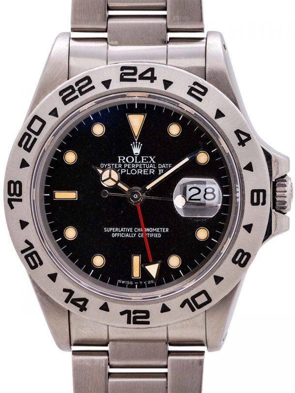 Rolex Explorer II ref 16550 Transitional Model Patina'd Dial circa 1987