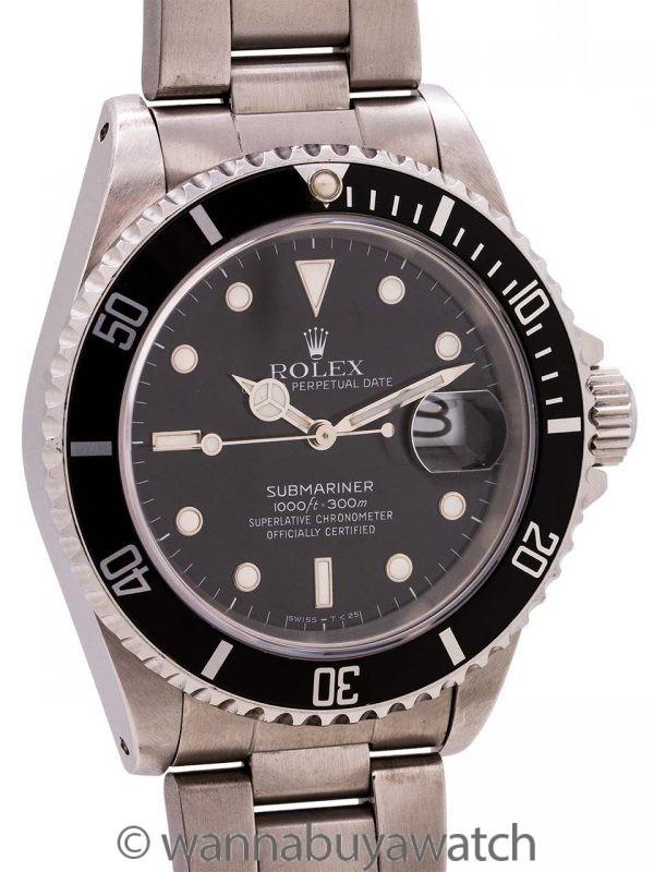 Rolex Submariner ref# 16610 Tritium circa 1989