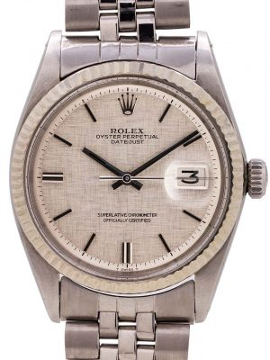 Rolex Datejust Stainless Steel ref 1601 Linen Dial circa 1971