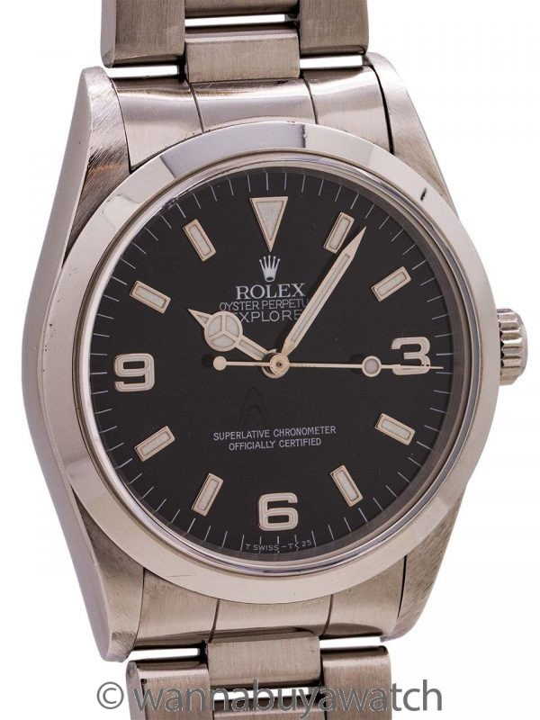 Rolex Explorer ref 14270 Tritium Box & Papers circa 1997