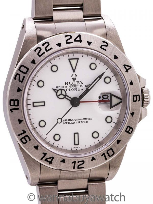"Rolex Explorer II ref 16570 circa 1998 ""Swiss Only"" New Old Stock!"