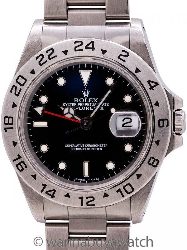 Rolex Explorer II ref 16570 Black Dial Tritium Lumes circa 1997