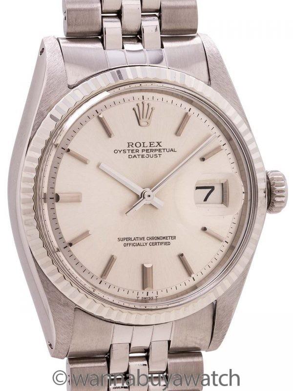 Rolex SS Datejust ref 1601 Steel & 14K WG circa 1970