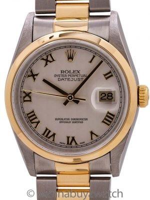 Rolex  Datejust SS/18K YG ref 16203 Pyramid Dial circa 2000 B & P