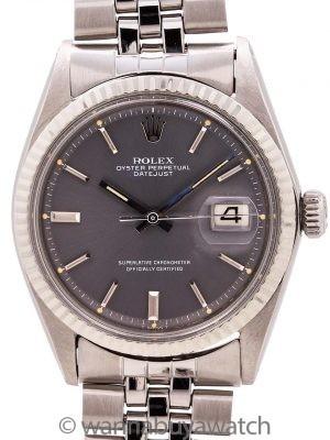 Rolex Datejust ref 1601 Stainless Steel Gray Pie Pan Dial circa 1969