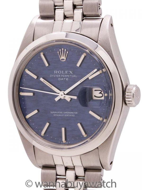 Rolex Oyster Perpetual Date ref 1500 Blue Brick Dial circa 1970