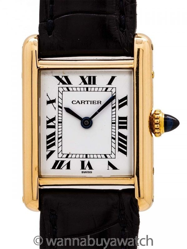 Cartier Lady's 18K Gold Tank Louis circa 1970's