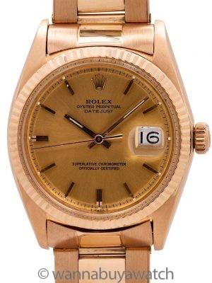 Rolex SS Datejust ref 1601 18K PG circa 1969