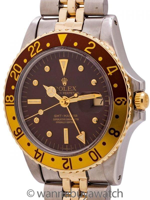 "Rolex GMT SS & 14K YG ref 1675/3 ""Rootbeer"" circa 1971"