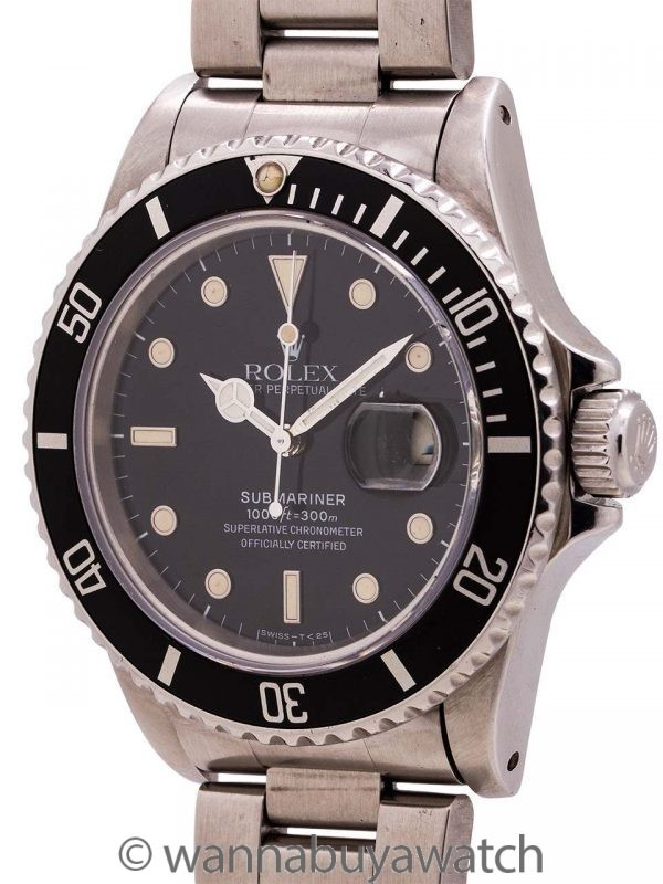 Rolex Submariner ref 16800 Transitional Model circa 1984