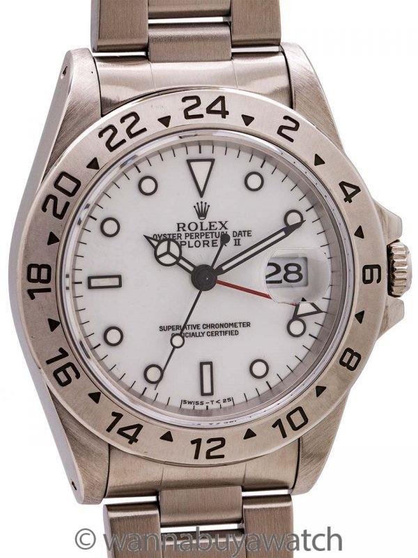 """Rolex Explorer II """"Polar"""" ref 16570 Tritium circa 1995"""
