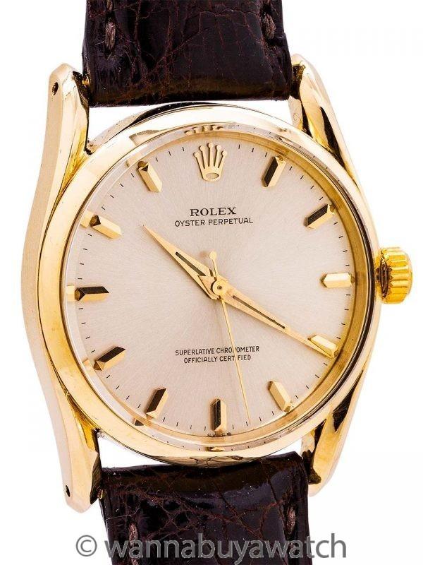 Rolex 14K YG Bombe ref 1011 circa 1960