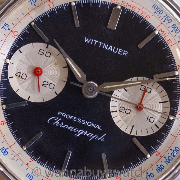 Wittnauer Professional Chronograph ref 8023-241T circa 1960's