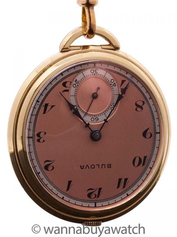 Bulova 12-S Open Face Pendant Pocketwatch circa 1940's