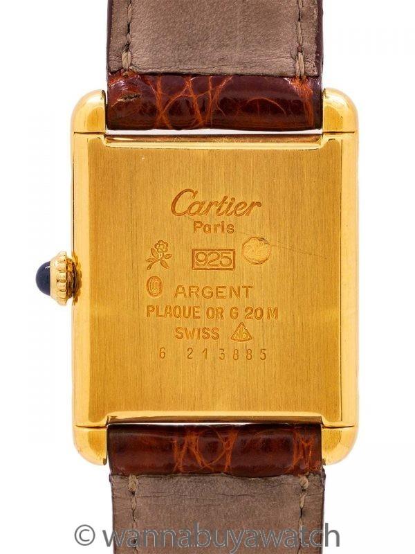Man's must de Cartier Tank Louis Vermeil circa 1980's