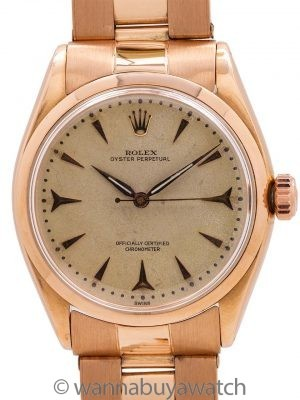 Rolex 18K PG Oyster Perpetual Chronometer circa 1956
