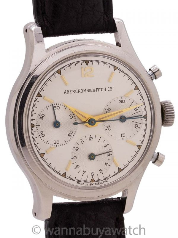 Heuer Abercrombie & Fitch ref. 2444 Chronograph circa early 1960's