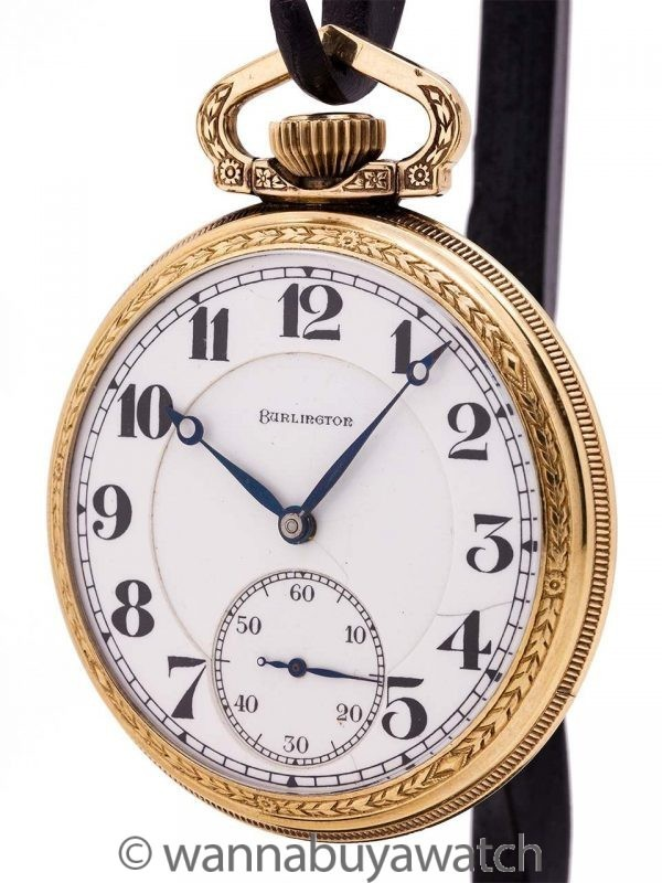 "Illinois ""Burlington"" 21 Jewel Railroad Watch circa 1920"