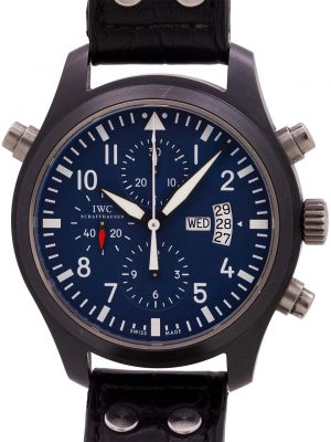 IWC Top Gun Split-Second Chronograph for Carlson Boutique w/ B&P circa 2009
